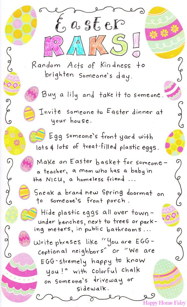 Easter RAKs at Happy Home Fairy (Random Acts of Kindness)