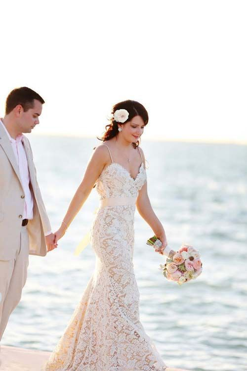 Draw inspiration from the most gorgeous beach wedding for Colored beach wedding dresses