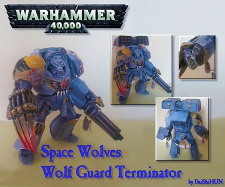 Warhammer 40K - Space Wolves Papercraft (Terminator Wolf Guard)