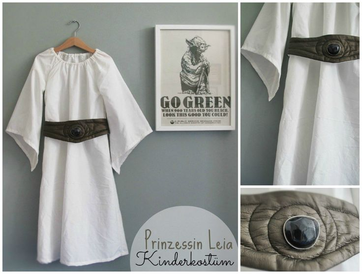 Star Wars Princess Leia kids costume Collage by kleinstyle Kinderkostüm Prinzessin Leia Fasching Karneval