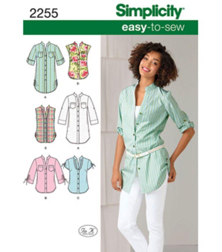 Simplicity Pattern | Woman's button down shirt