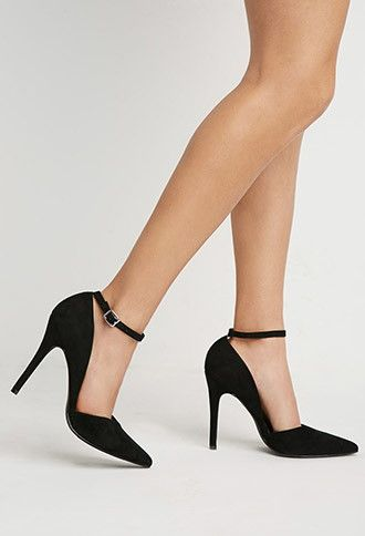 Faux Suede Pointed Pumps | Forever 21 - 2000183396
