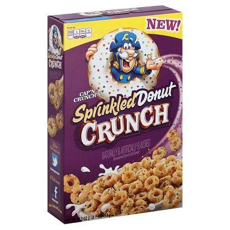 Cap'N Crunch's Sprinkled Donut Crunch Cereal 17.3 Ounce : Target