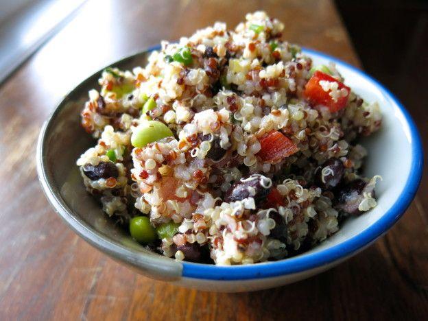 Salade de quinoa - tomates et poivrons