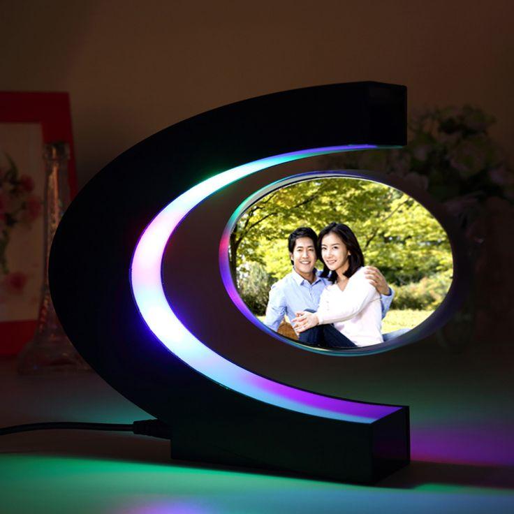 Freeshipping classic&fashionable gift C-shaped magnetic levitation frame with led lamps light-up Eletronic Hot