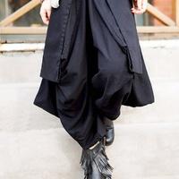 linen Asymmetric women divided skirts