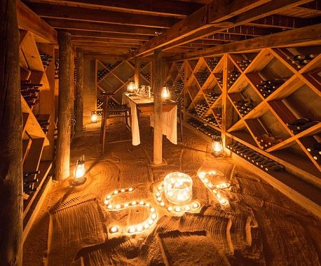 Dinner by candlelight - and wine
