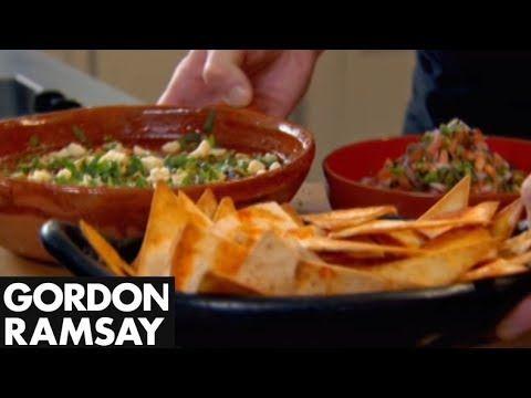 Spicy Mexican Soup with Tortillas & Salsa - Gordon Ramsay  Gordon is making an incredible spicy and flavourful Mexican soup with home-made tortillas and pico de gallo.  #picsandpalettes #tortillas #GordonRamsay