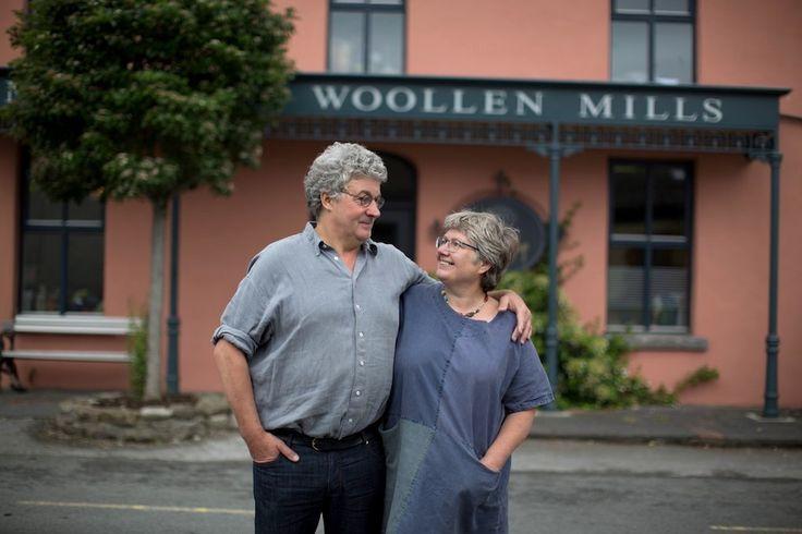 Proud makers outside the studio | McKernan Woollen Mills | Handmade scarves and accessories | Made in Ireland | Irish Design | Co. Clare | Weaving & Knitting