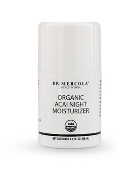 Organic Acai Night Moisturizer contains nine moisturizing ingredients that help rejuvenate your skin while you sleep. http://www.mercolahealthyskin.com/organic-acai-night-moisturizer.aspx