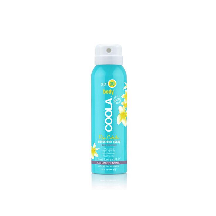 #Divertimento assicurato!!! #Coola #Sport Continuous #Spray #Piña Colada SPF 30 #Travel Size è una #protezione #solare in spray, delicatamente profumata, trasparente, di assorbimento immediato. Offre una #protezione ad #ampio #spettro. Formulato con il 70% di #ingredienti #biologici certificati come #cetriolo, #Alghe e estratto di #Fragola, Lampone. Ricco di #Omega-3 e 6, consente di ottenere un' #abbronzatura #intensa e una #pelle protetta dai danni dei #raggi #solari.