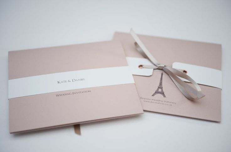 Eiffel Tower wedding invitation