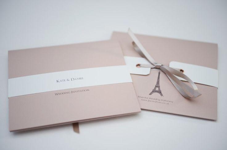 Eiffel Tower wedding invitation