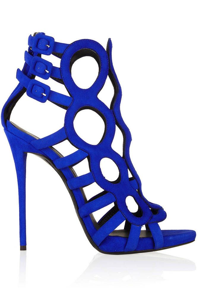 Cool Blue Giuseppe Zanotti sandals | 10 Crazy Spring 2014 Shoes - Extravagant Spring 2014 Shoes - Harper's BAZAAR