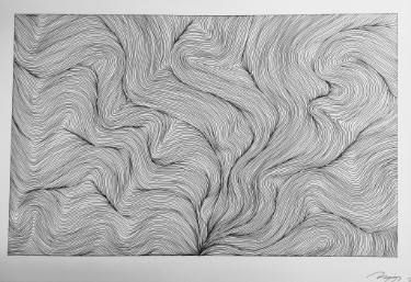 "Saatchi Art Artist Naja Utzon Popov; Drawing, ""Flow"" #art"