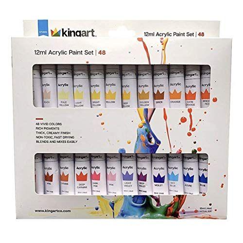Kingart 506b 48 Studio Acrylic Paint 12ml 0 4oz Assorted 48