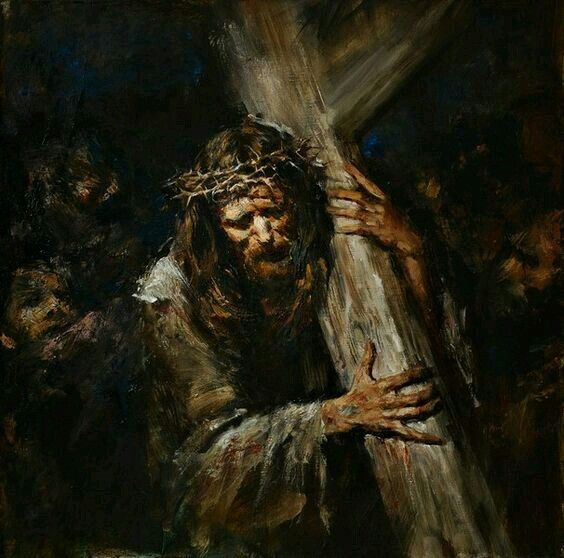 His sacrifice. He Loves you so much. He carried this cross on His back, He was nailed to it He died and rose so you wouldn't have to die. He payed the ultimate price. Now all thats left is of you to except Him into your heart, and let Him use you for His glory.