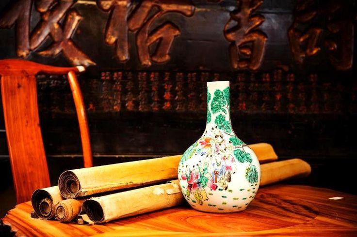 "Vaso cinese in porcellana policromo di vecchia manifattura by ""Cataleta"" #artigianato #handcraft #artigianoinfiera #cina"