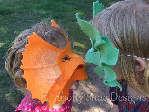 Dragon Mask and Frill Neck Lizard Mask PATTERN. For by EbonyShae