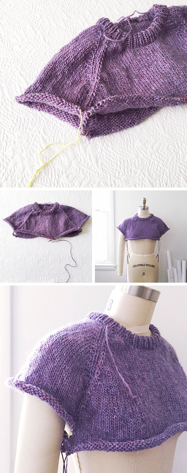 Knitting Sweater Tutorial : Best images about knit stitches techniques and