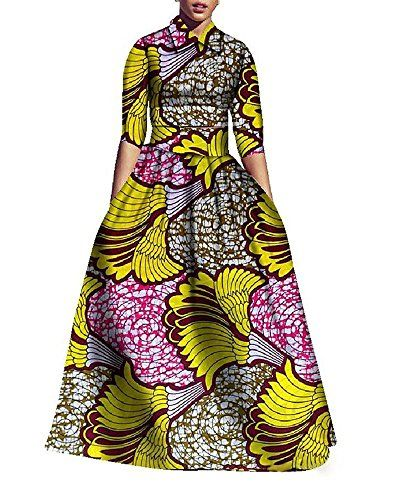 746ac03db70c98 YOMISOY Womens African Print Half Sleeve Blouse and High Waist Long Maxi  Skirt 2 Piece Outfits