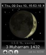 Islamic Calendar with Current Moon Phase by Alhabib