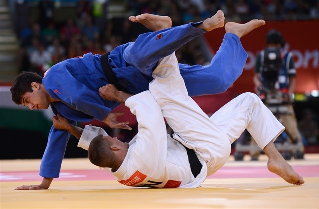 Olympic Twists aplenty in the tumble of judo. This is a Georgian Judoku player coming out of nowhere to take the Gold medal.