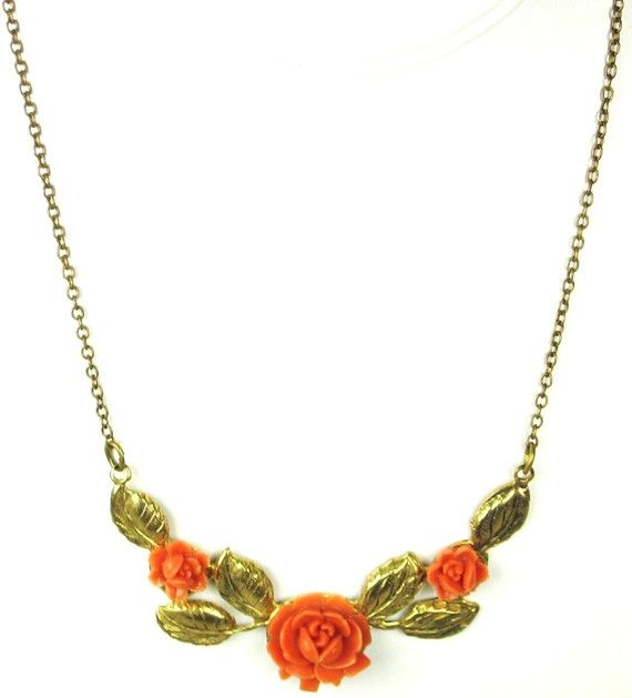 Coral Plastic and Gold Tone Gilt Metal Floral by judysgems2, $59.99: Coral Plastic, Gold Tones, Fabulous Jewelry, Group Team, Etsy Stores, Gilt Metals, Etsy Favorites, Awesome Vintage, Jewelry Vintage