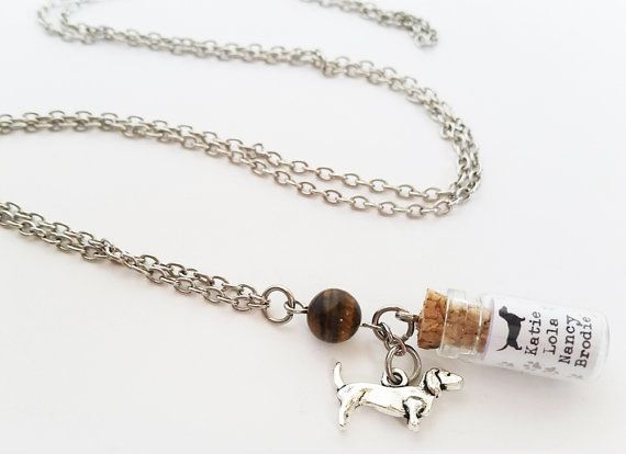 Personalised Daschund charm necklace. Silver daschund by totesBOHO