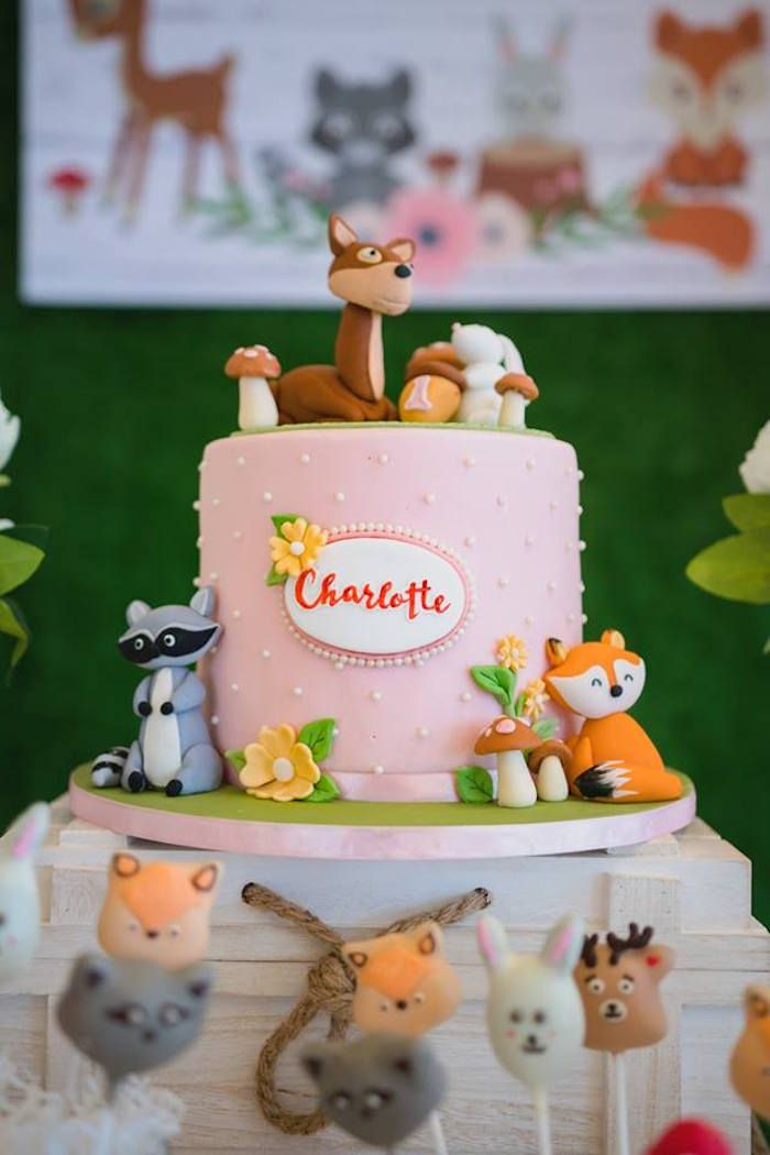 Girly Rustic Woodland Birthday Party Animal Party Birthday