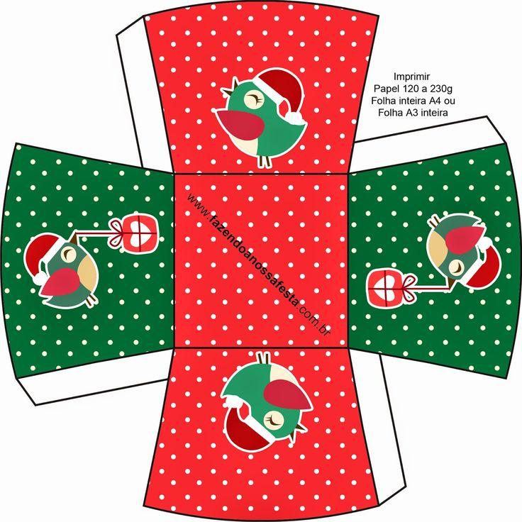 pajaritos de navidad cajas para imprimir gratis