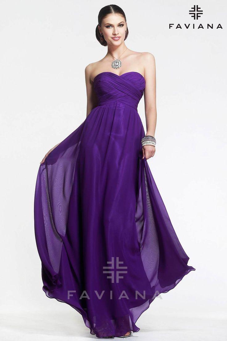 82 best Purple Dresses images on Pinterest | Evening dresses, Gold ...