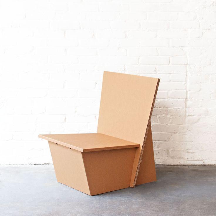 Cardboard Lounge Chair Stange Design Berlin Wohnen