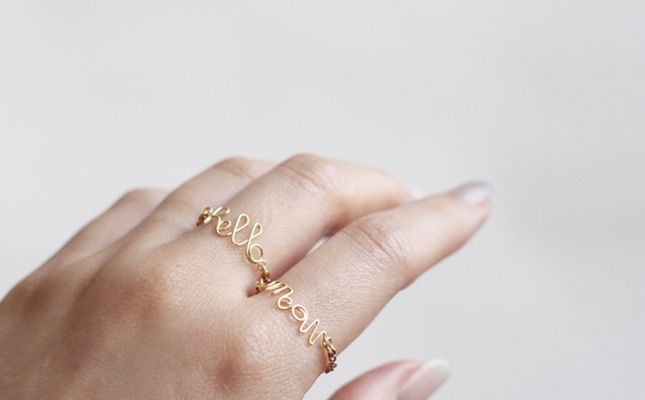 These Dainty DIY Rings Makes a Real Statement via Brit + Co.