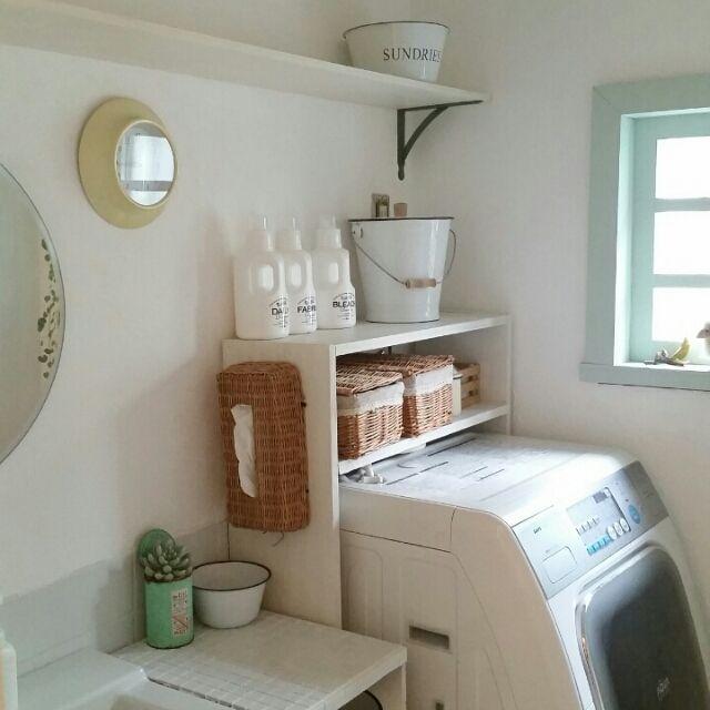 詰め替えボトル/mon・o・tone/DIY/漆喰塗り壁/収納DIY /棚DIY…などのインテリア実例 - 2015-04-29 07:26:05 | RoomClip(ルームクリップ)