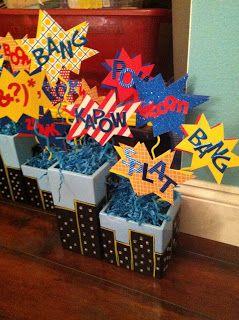 Even Superheroes Turn 30 Eventually... Superman Themed 30th Birthday Centerpieces - Custom Paper Goods - www.lepetitpapierbymonica.com