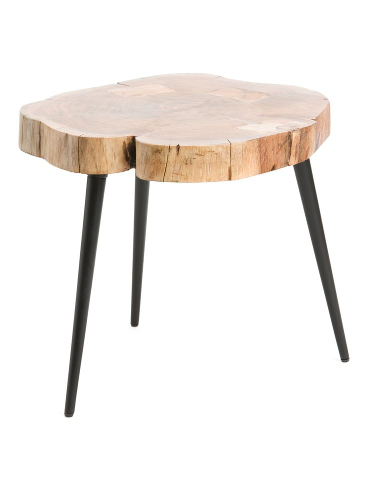 Live edge top midcentury coffee table accent furniture