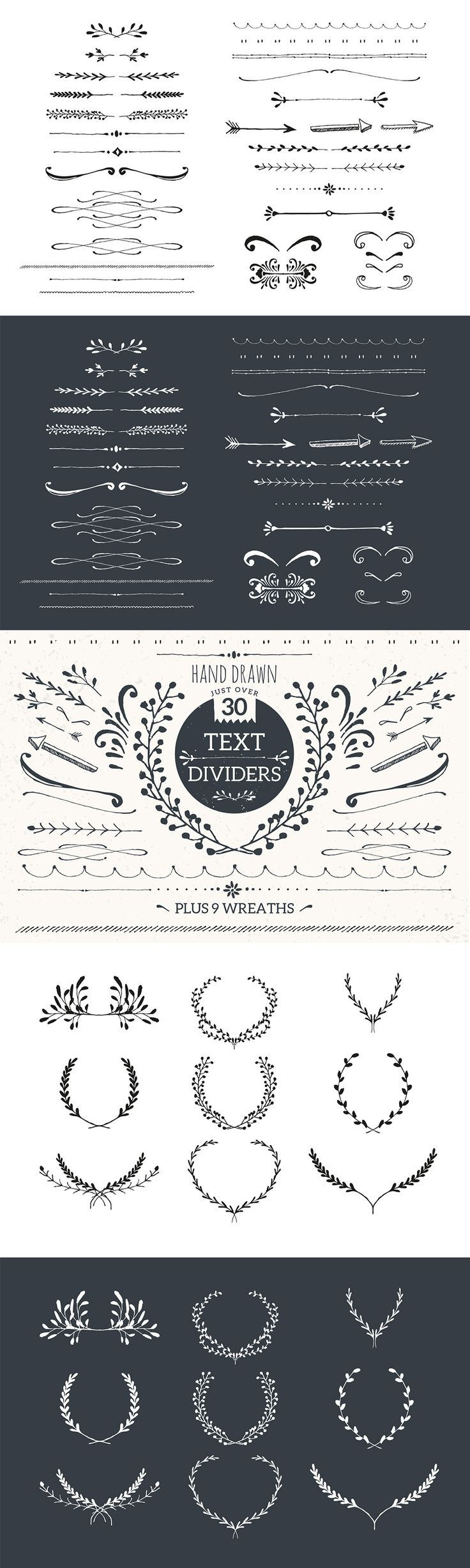 The Essential, Creative Design Arsenal (1000s of Best-Selling Resources) Just $29 - Text Dividers Mini Pack
