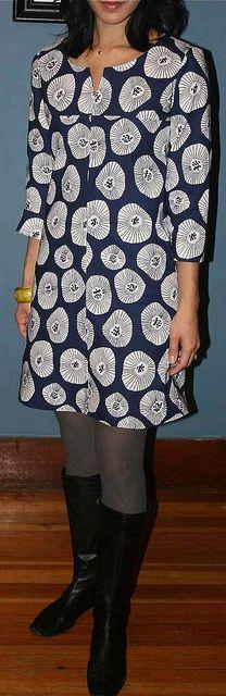 Lisette Diplomat Dress (view C) by nightknitter, via Flickr