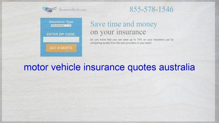 Motor Vehicle Insurance Quotes Australia Australia Insurance