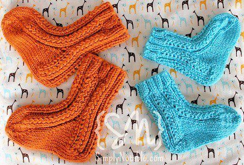 Free Baby Socks Knitting Pattern