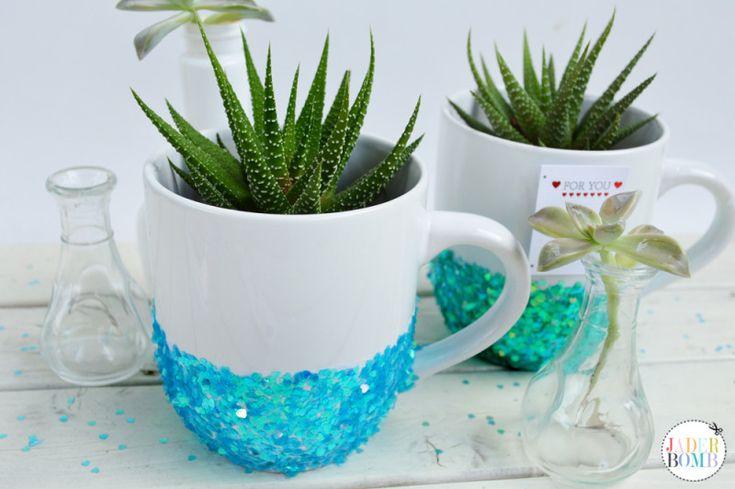 Glitter Mug Planter