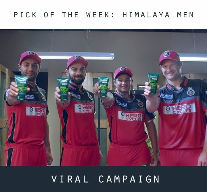 """Impactful #ViralCampaigns- #PickOfTheWeek  #Himalaya Herbals Men successfully pulled off a Digital driven marketing campaign """"HateThePimple"""" during the last year's IPL for its """"Pimple Clear"""" Neem Face Wash. It all started with a teaser film Does RCB #HateThePimple? followed by a series of videos showing that both RCB and Himalaya Men hate pimples. The #RCB players came up on the field wearing caps written """"Pimple?"""" on them and the whole campaign connected very well with its target audience…"""