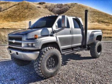 "2007 Chevy Kodiak 5500 Duramax Diesel 4x4 MONSTER Crew Cab on 50"" Military Tires, US $49,900.00, image 1"