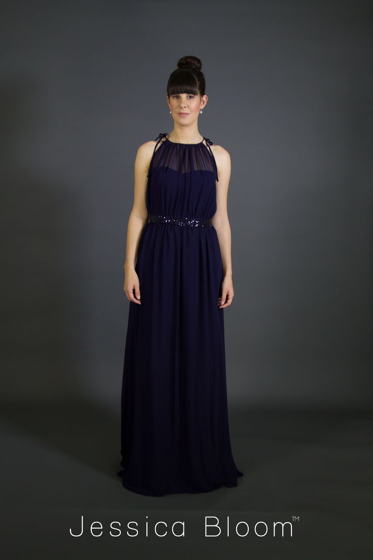 Jessica Bloom Gown Audrey in Navy Blue