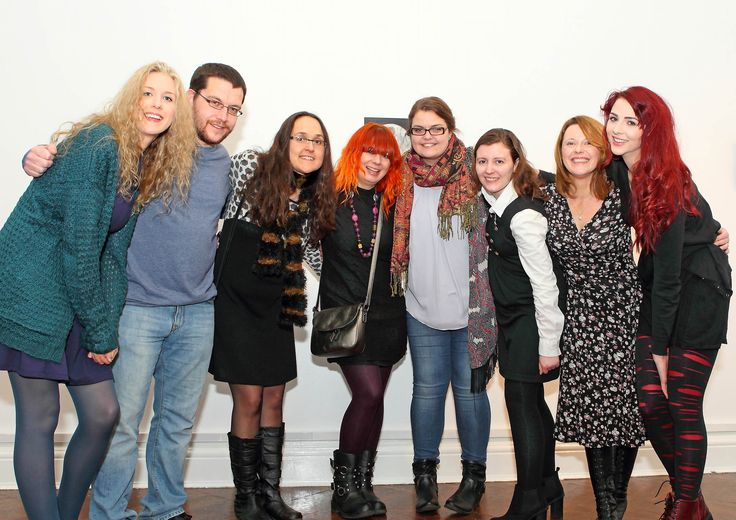 Group 1 student artists from Waterford Institute of Technology Department of Creative and Performing Arts at the opening of First View -Julia Cottle, Doris Reinisch, Marianne Heaphy, Ann Marie Brett-Jennings, Louise O'Neill, Amii McGuinness, Garreth Gleeson and Kim Stuart-Williams. - www.noelbrownephotographer.com