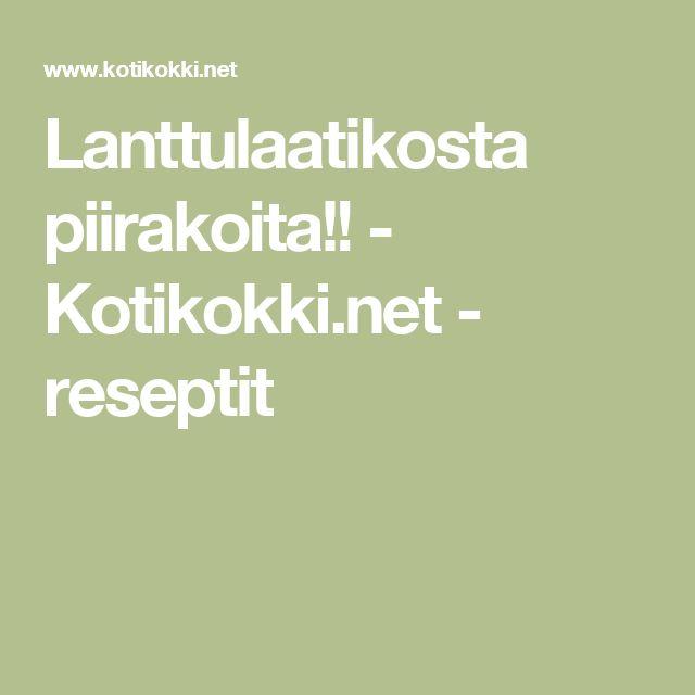 Lanttulaatikosta piirakoita!! - Kotikokki.net - reseptit