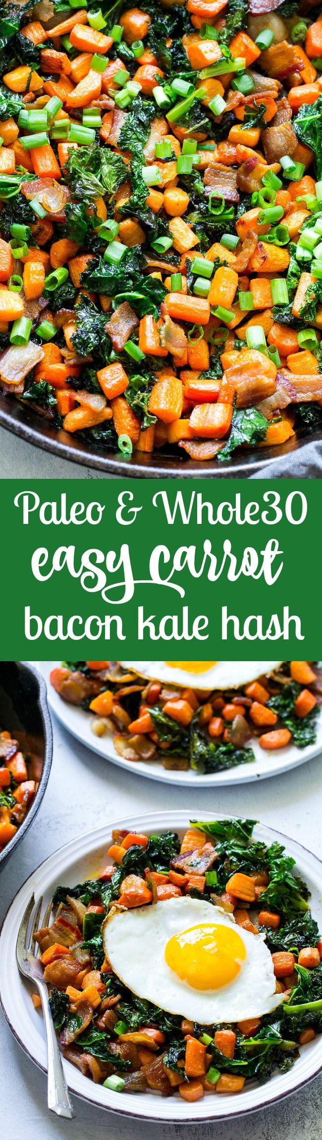 Blue apron kale hash - Roasted Carrot Bacon Kale Hash Paleo Whole30