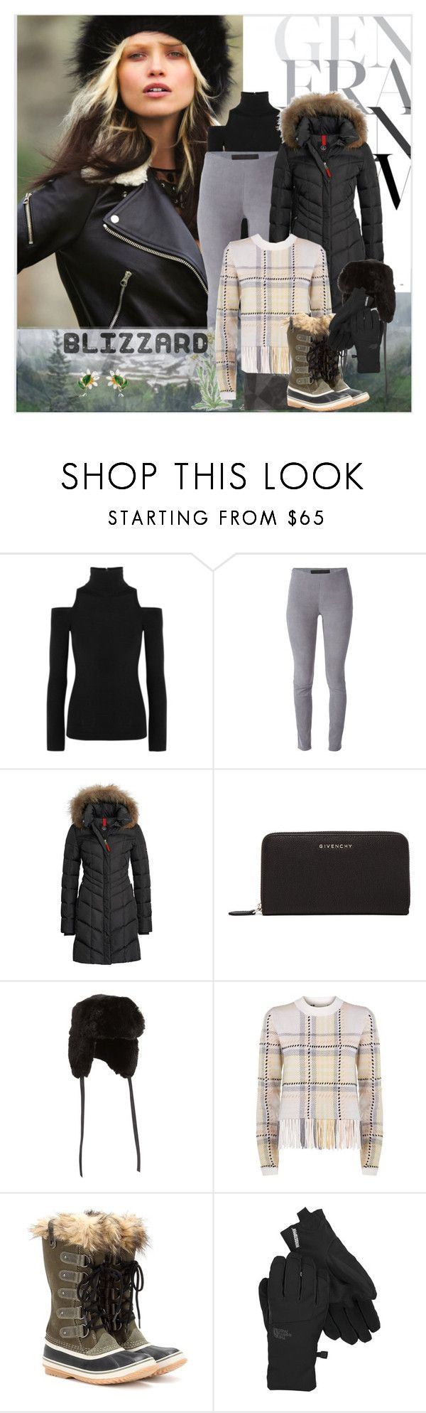 """""""Edelweiss: Flower of the Mountains"""" by bklou ❤ liked on Polyvore featuring Donna Karan, Drome, Bogner Fire + Ice, Givenchy, Neiman Marcus, Chloé, SOREL, The North Face, Dolce&Gabbana and women's clothing"""