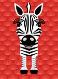 3d Zebra greeting Cards | Cool Kids Cards